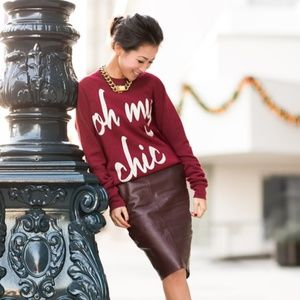 "Sweaters - ILY Couture ""Oh My Chic"" Red Sweater"